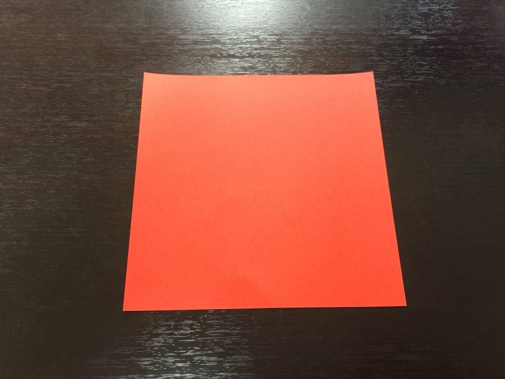 サンタクロース折り紙の簡単な折り方手順1