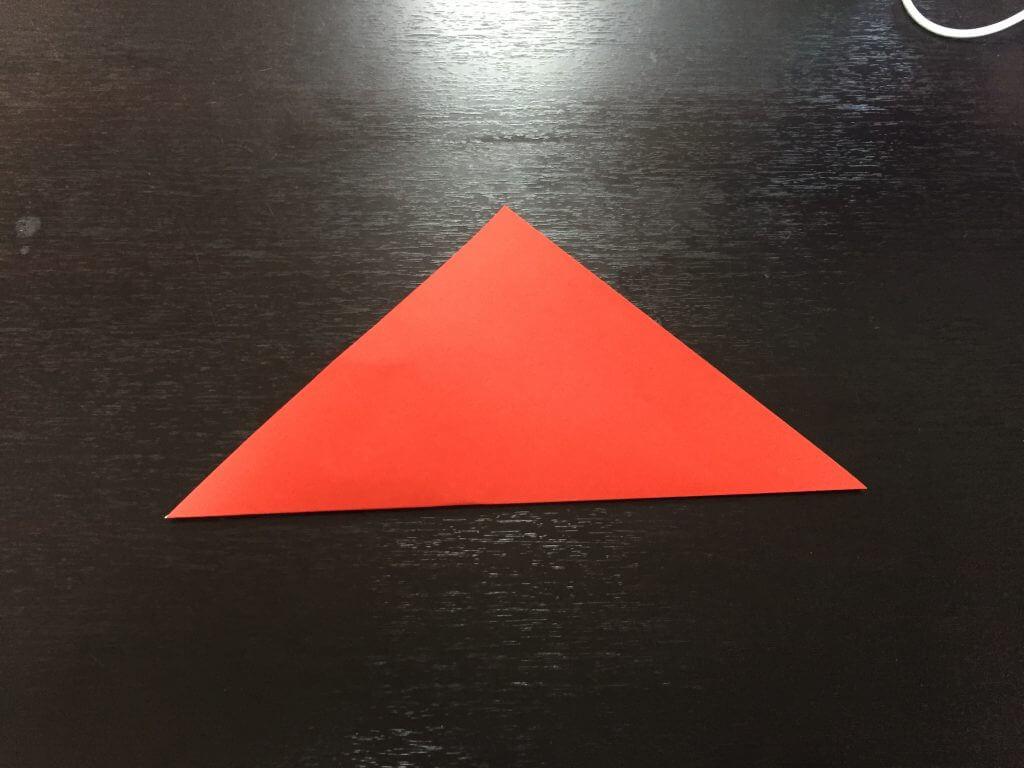 サンタクロースの簡単な折り方手順2