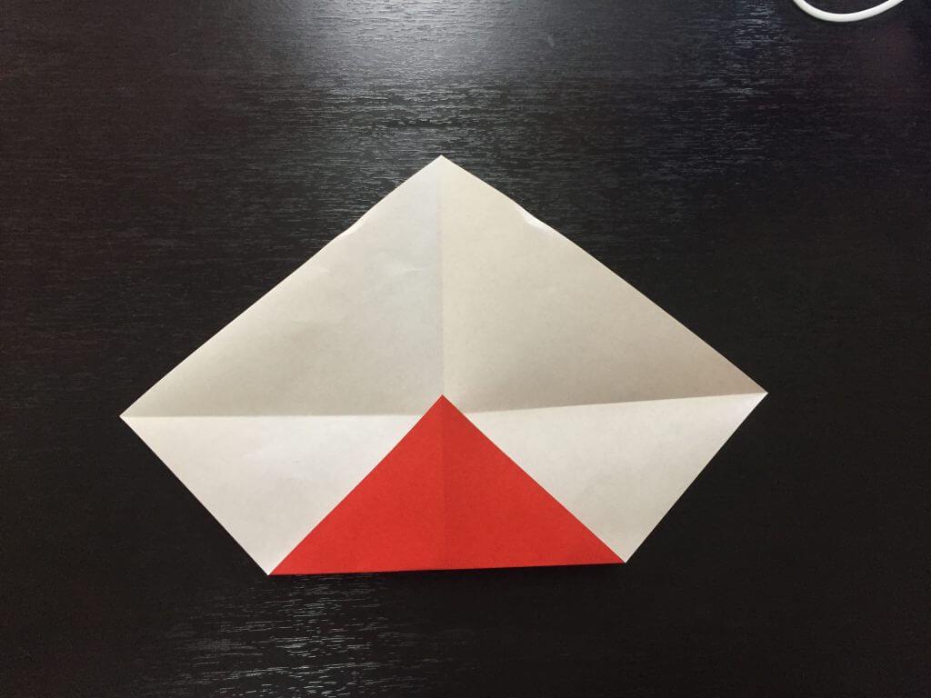 サンタクロースの簡単な折り方手順4