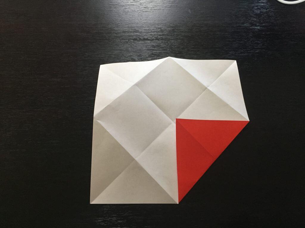 サンタクロースの簡単な折り方手順6