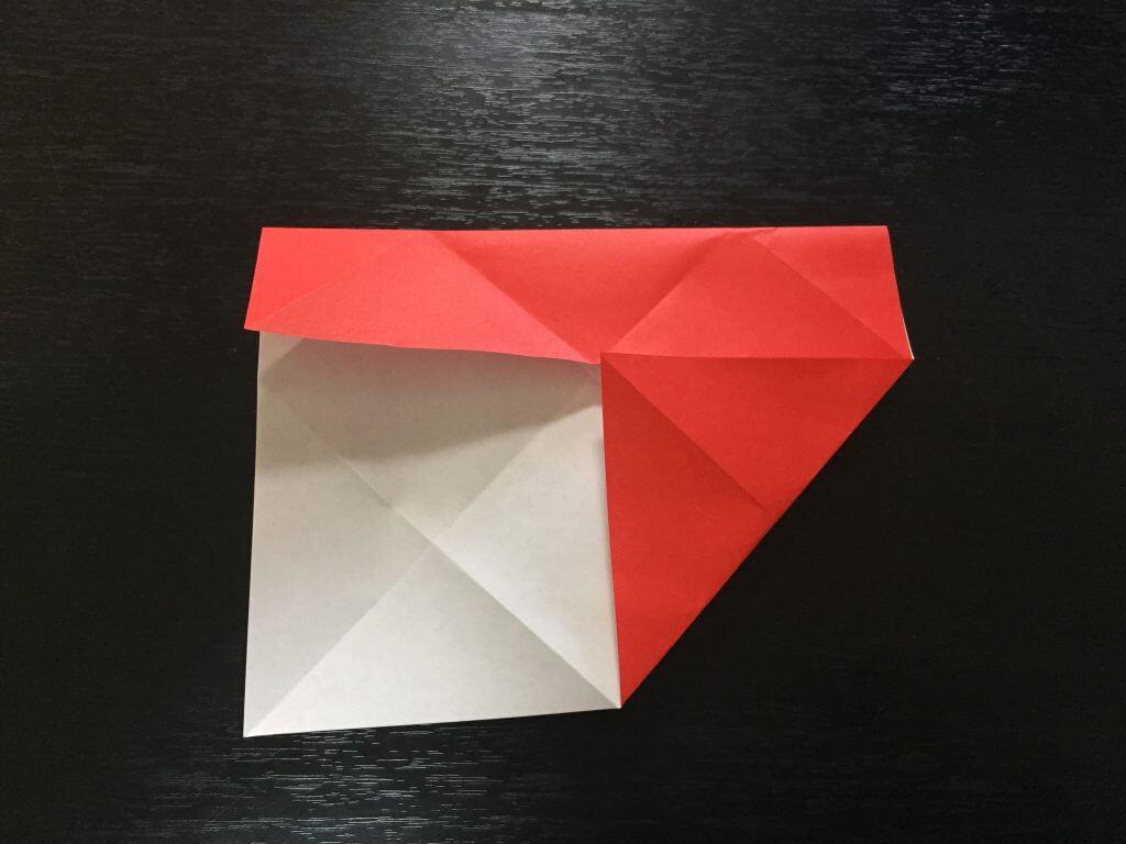 サンタクロースの簡単な折り方手順7