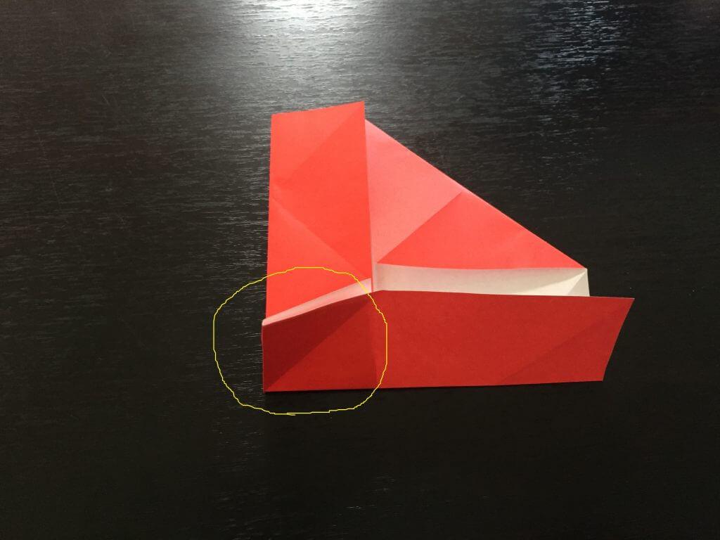 サンタクロースの簡単な折り方手順8