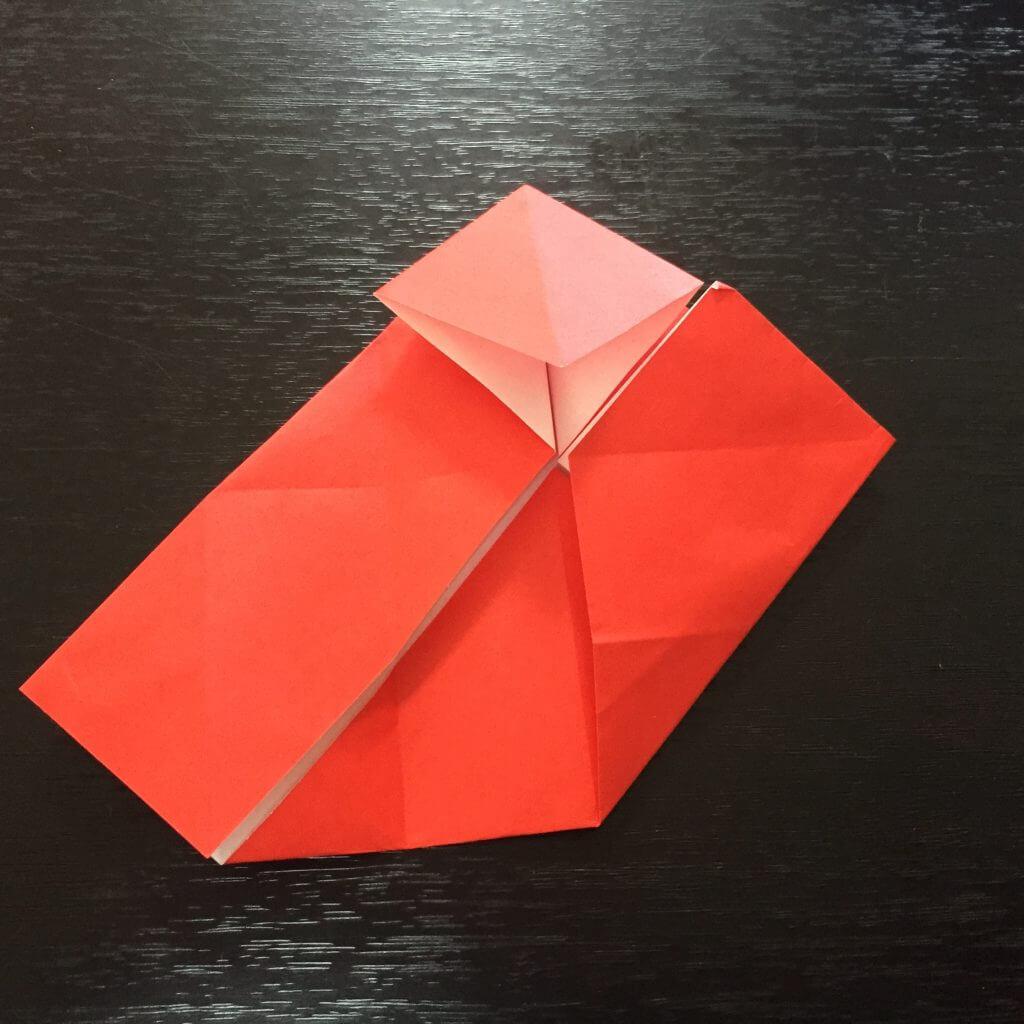 サンタクロースの簡単な折り方手順10