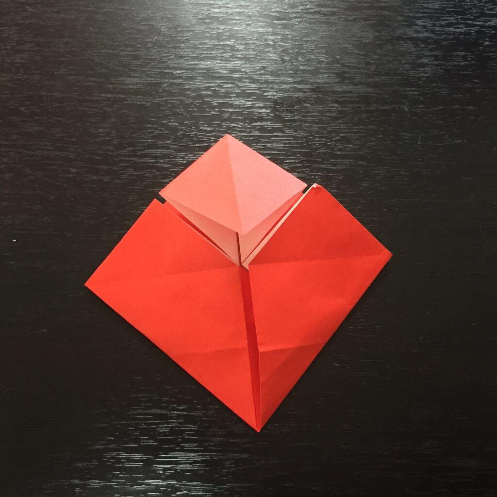 サンタクロースの簡単な折り方手順11