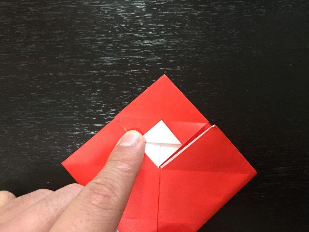 サンタクロースの簡単な折り方手順13