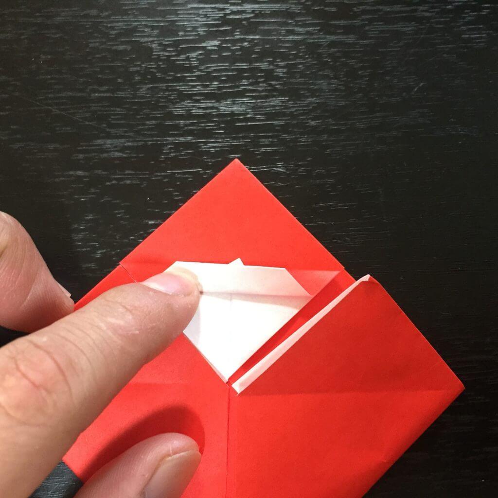 サンタクロースの簡単な折り方手順14