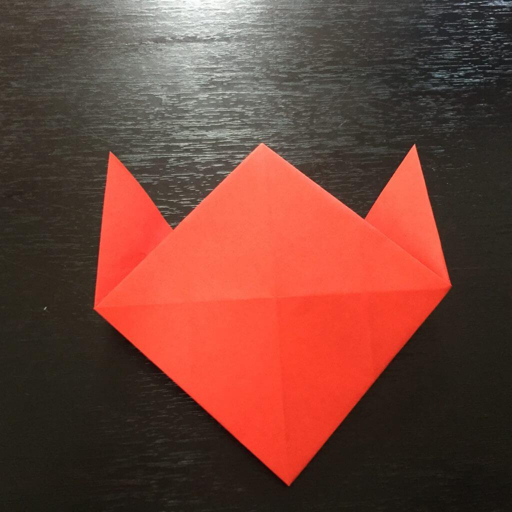 サンタクロースの簡単な折り方手順20