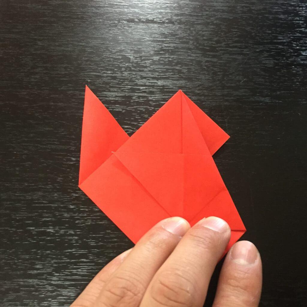 サンタクロース折り紙の折り方手順21