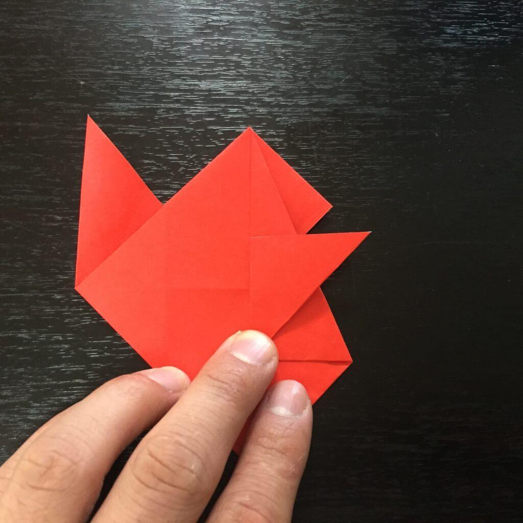 サンタクロース折り紙の折り方手順22