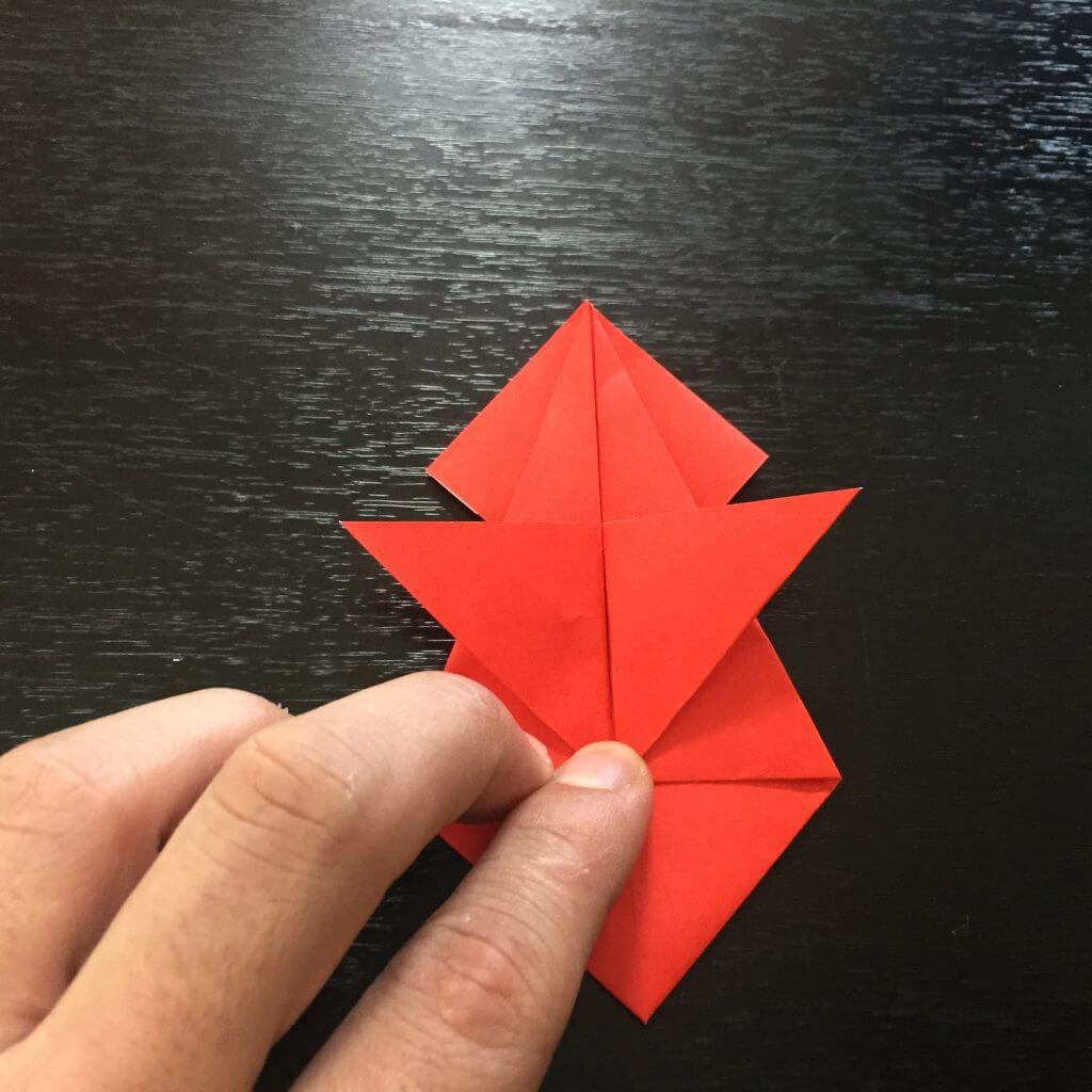 サンタクロース折り紙の折り方手順23