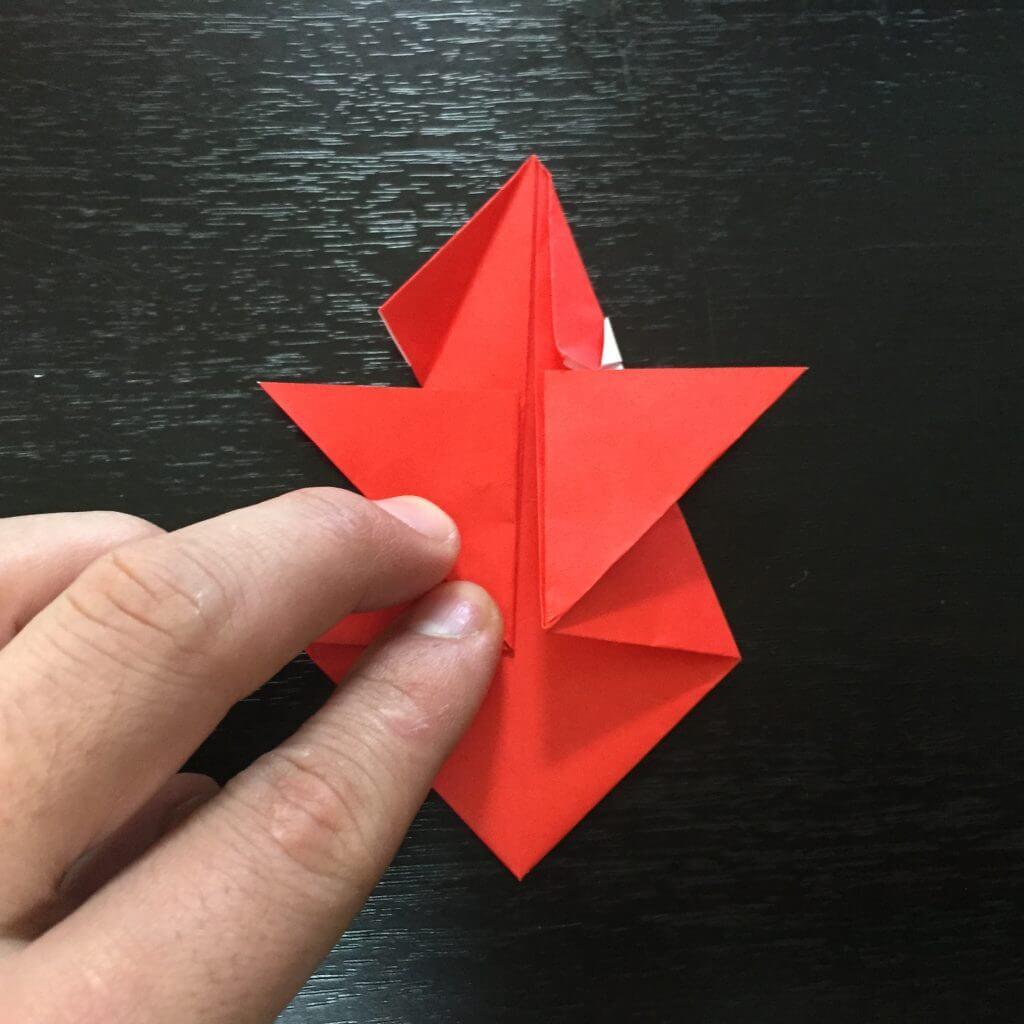 サンタクロース折り紙の折り方手順24