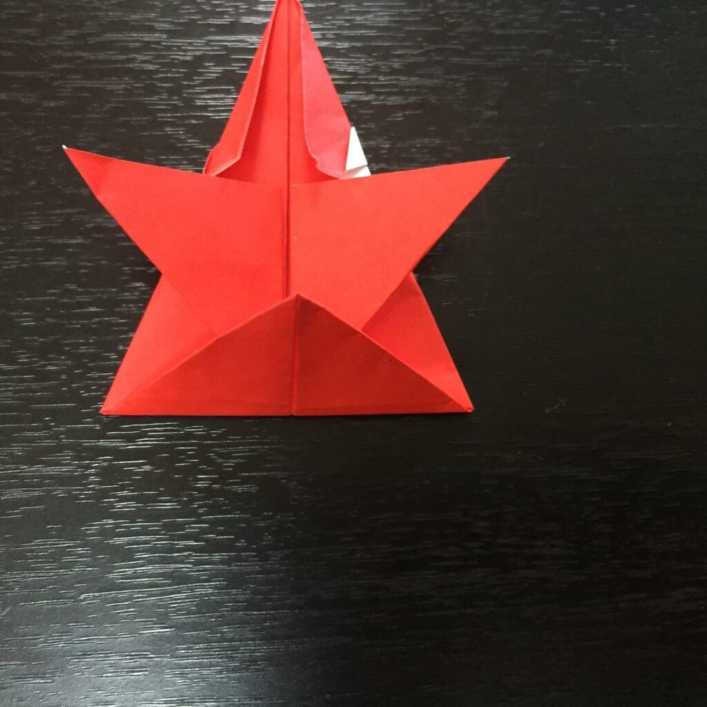 サンタクロース折り紙の折り方手順25