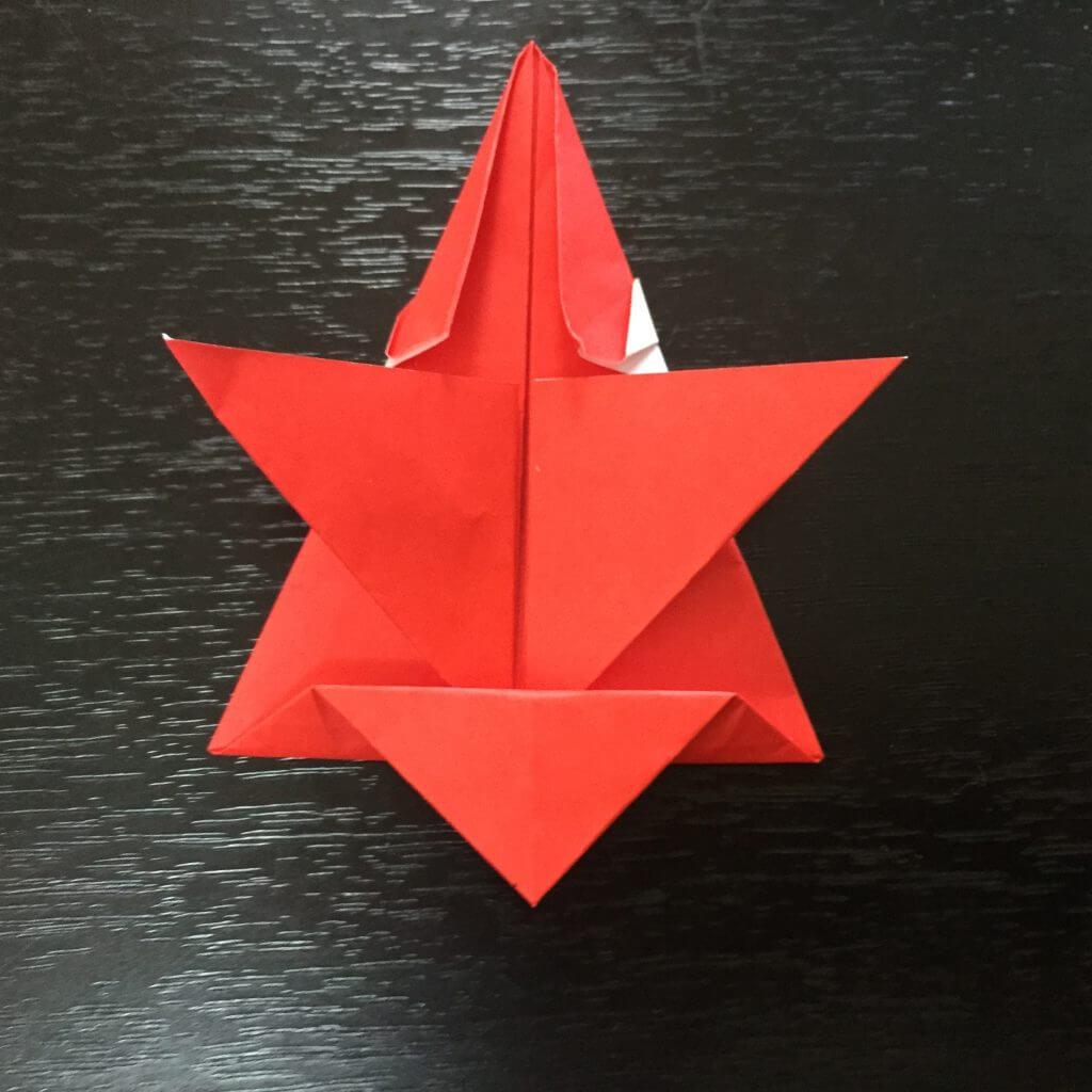 サンタクロース折り紙の折り方手順26