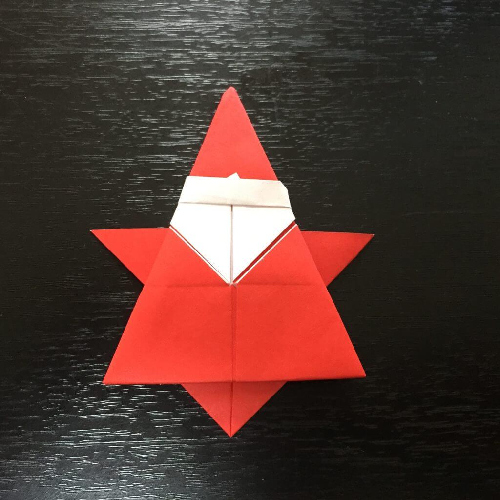 サンタクロース折り紙の折り方手順27
