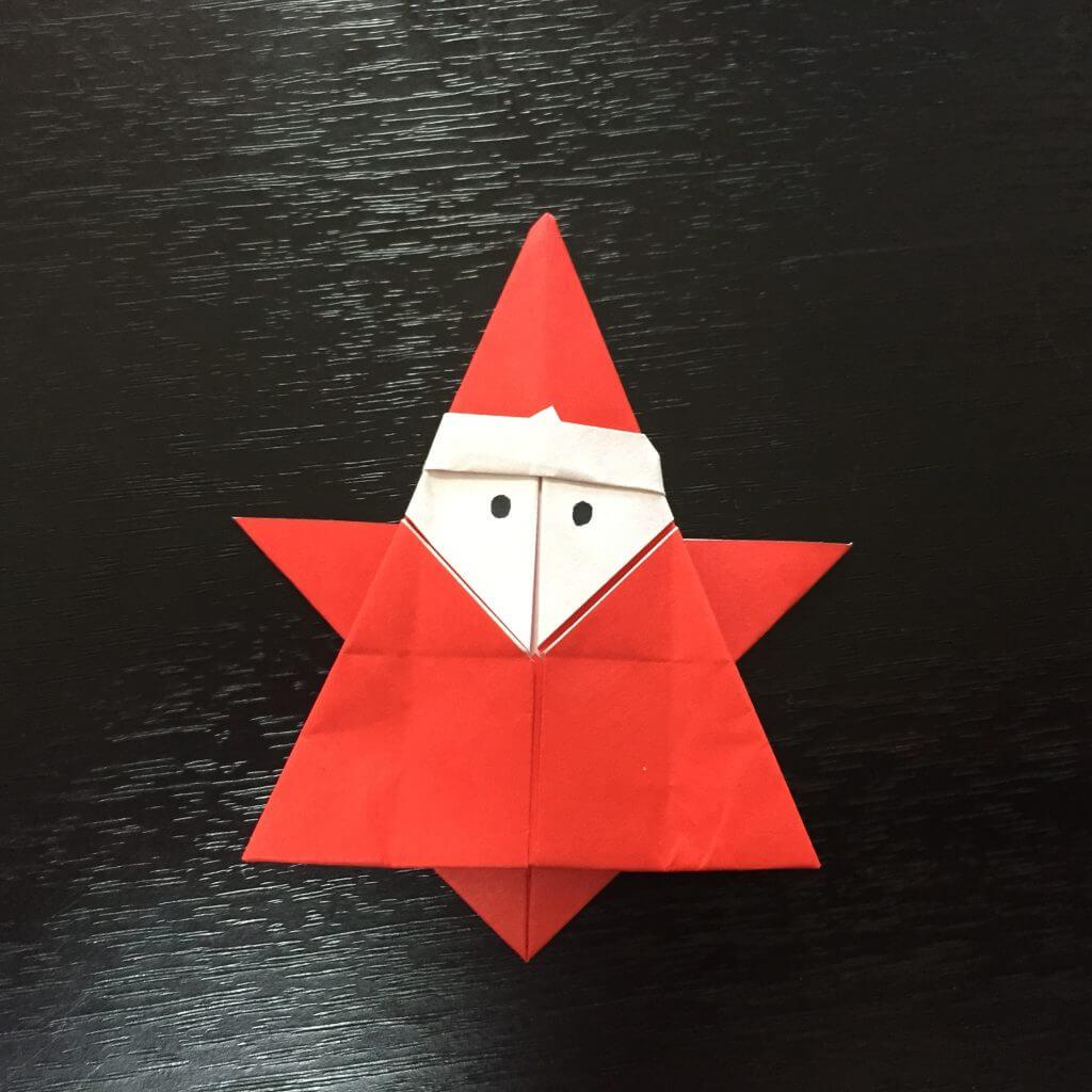 サンタクロースの簡単な折り方手順28