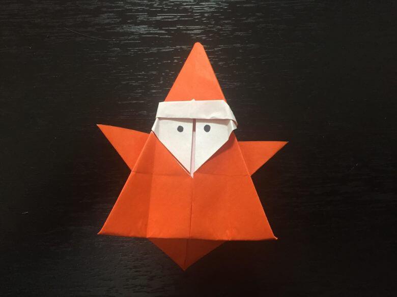 【サンタクロース折り紙の簡単な折り方】クリスマス飾りを手作りしちゃおう!