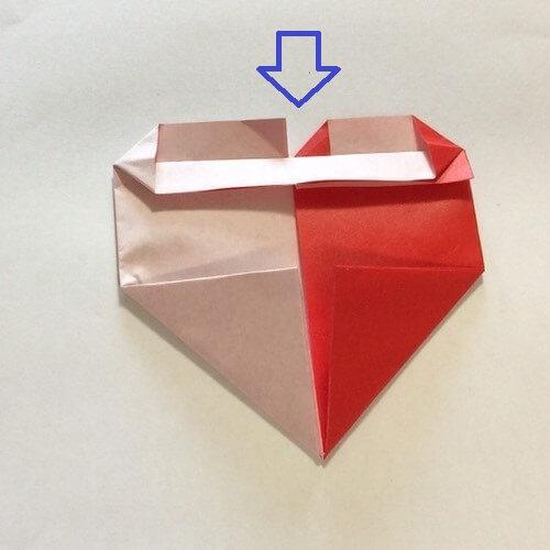 2色ハート折り紙簡単折り方手順11