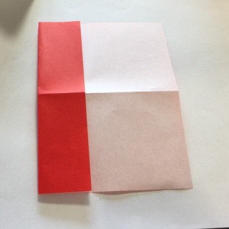 2色ハート折り紙簡単折り方手順5