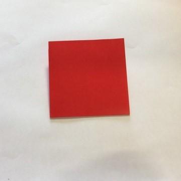 2色ハート折り紙簡単折り方手順2