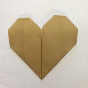 ハート折り紙簡単折り方