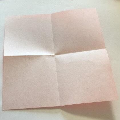 2色ハート折り紙簡単折り方手順3