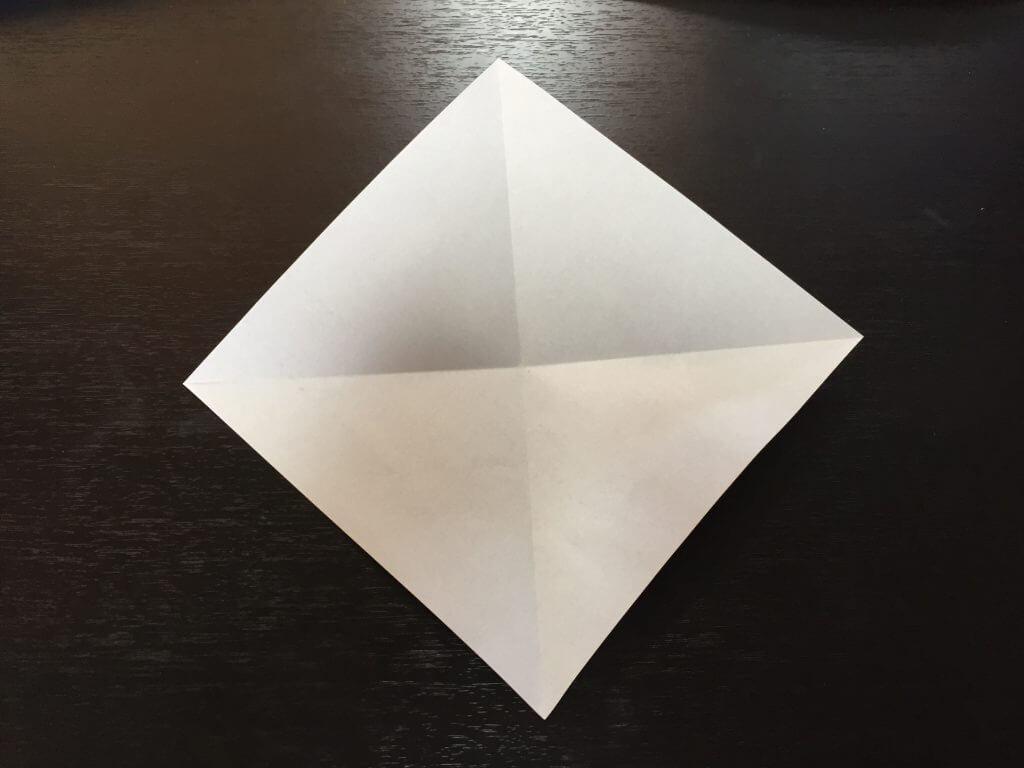 折り紙で簡単なハートの折り方手順3