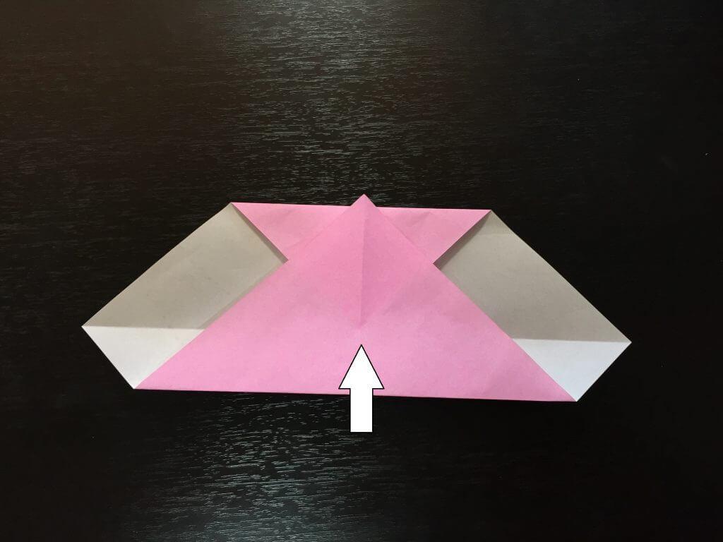 折り紙で簡単なハートの折り方手順5