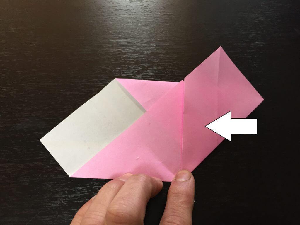 折り紙で簡単なハートの折り方手順6