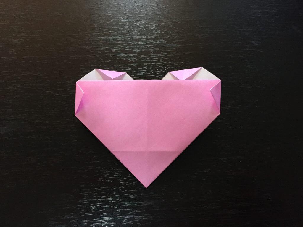 折り紙で簡単なハートの折り方手順8
