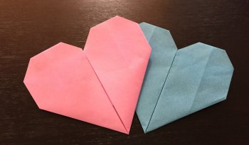 【幼児でも出来るハートの簡単な折り方2選♪】手紙にもなって子供も喜ぶ折り紙