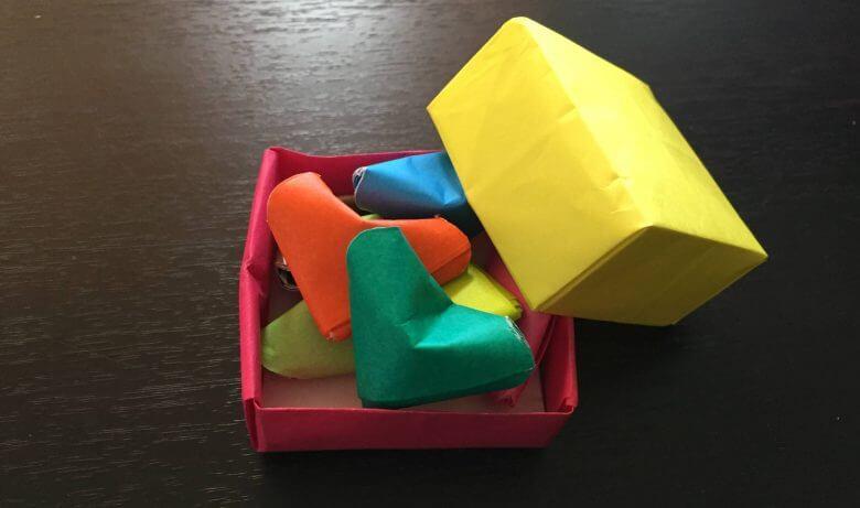 ラッキーハート折り紙折り方簡単立体
