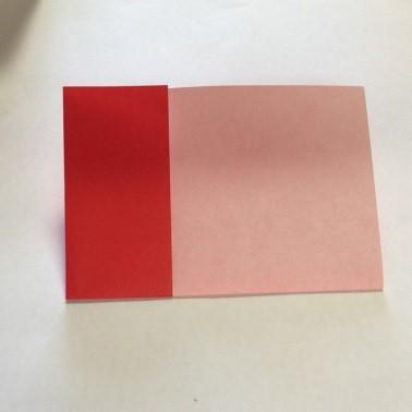 2色ハート折り紙簡単折り方手順6