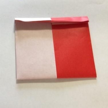 2色ハート折り紙簡単折り方手順8