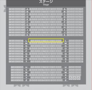 シアターGロッソ座席表
