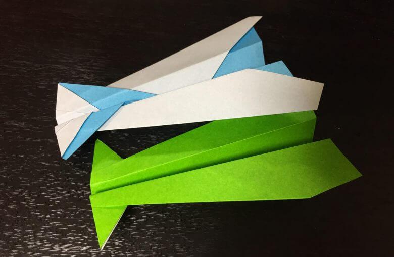 イカの紙飛行機の特徴・良く飛ぶの折り方はどれ?子供でも簡単に作れるよ♪