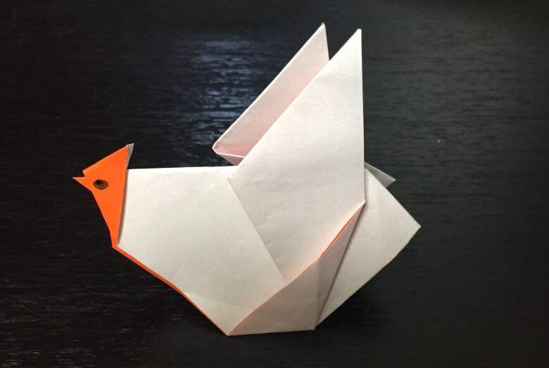 酉(にわとり)の折り紙!簡単な折り方は??ポイントは自分なりに折って可愛く作ろう♪