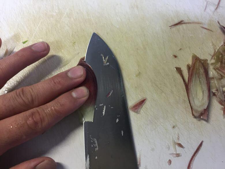 みょうが切り方薬味皮