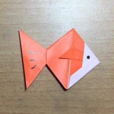 金魚の折り紙簡単な折り方立体でも難しくないよ