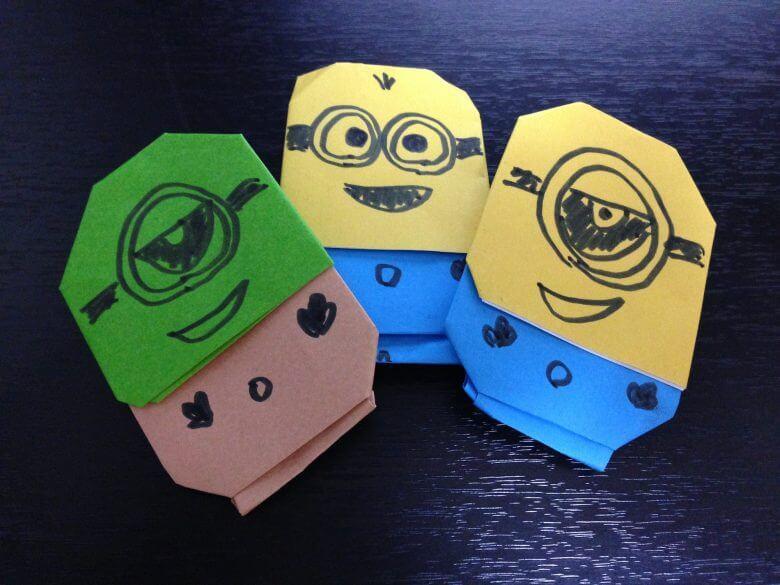 ミニオンズ折り紙折り方