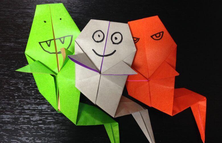 ハロウィンの折り紙!お化けの簡単な折り方・自分らしく可愛く作っちゃおう♪
