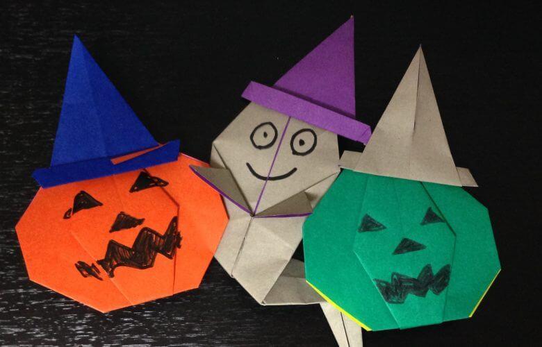 魔女の帽子の簡単な折り方♪ハロウィンの折り紙に使えるよ!