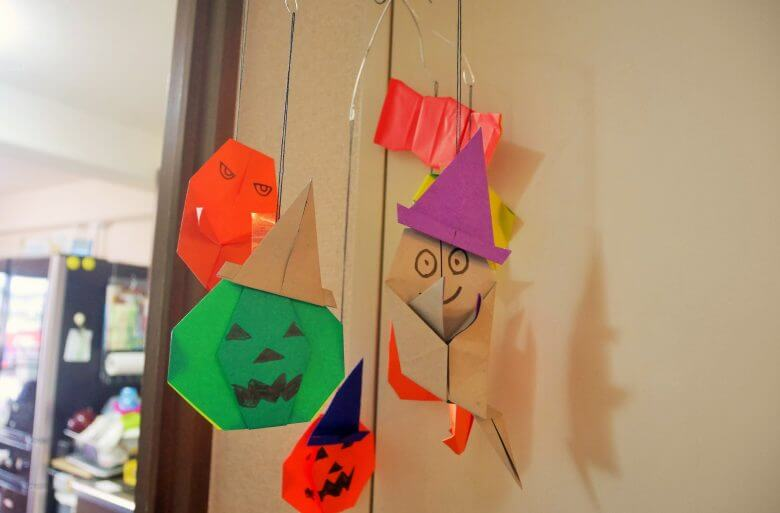 ハロウィンモビール簡単手作り折り紙の折り方