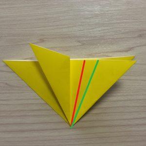 折り紙1枚で簡単に作れる星の折り方