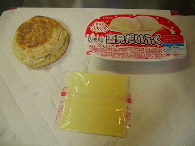 チーズ雪見だいふくトーストの材料