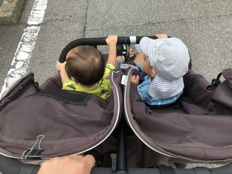 パパ一人・双子とベビーカーお出かけならココ♪荷物はそんなにいらなかった!