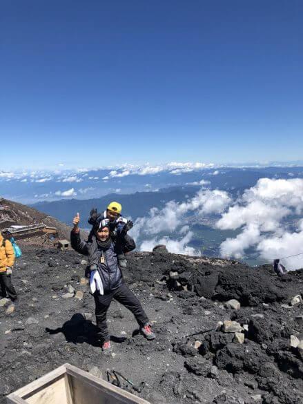 富士山,頂上,景色,山頂,お鉢巡り,絶景,吉田ルート