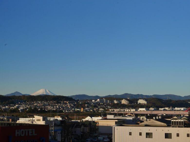 マンションからの富士山
