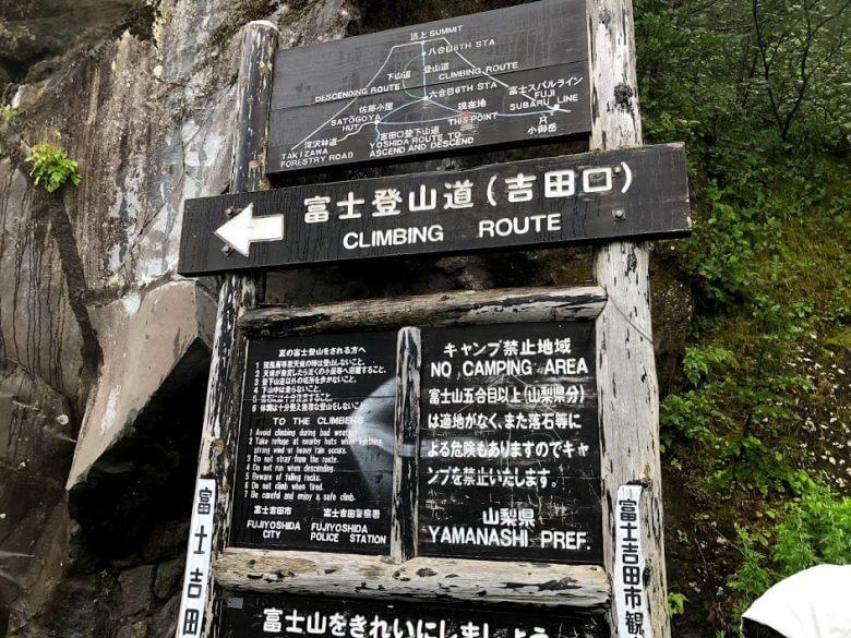 富士山 登山口 吉田口