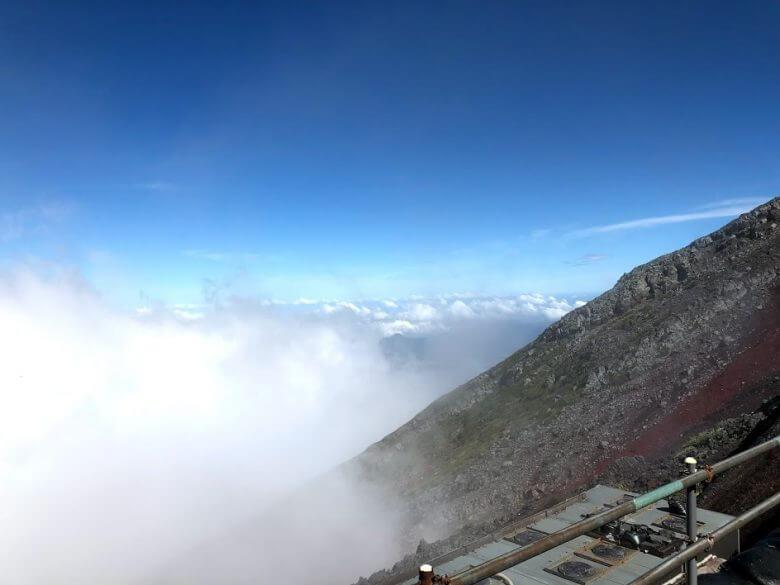 富士山7合目~8合目斜面
