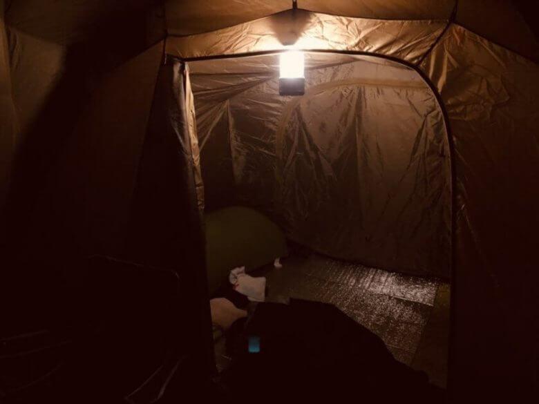 コールマンバッテリーガード1000寝室全体の明るさ